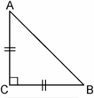 ABC is an isosceles triangle right angled at C. Prove that AB2= 2AC2.