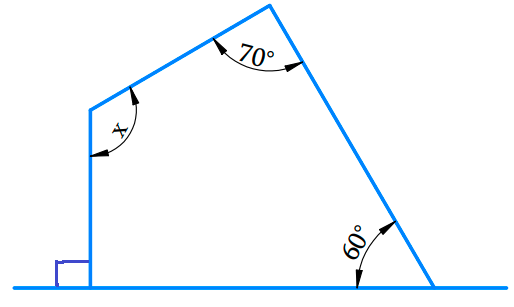 Find the angle measure x in the following figures: