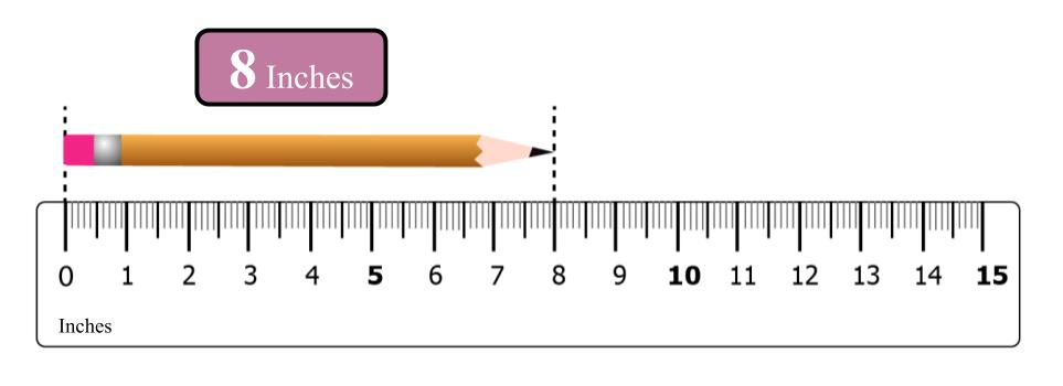 measuring a pencil with scale