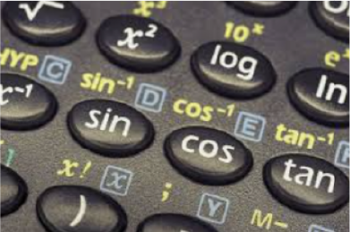 sin, cos, tan buttons on calculator