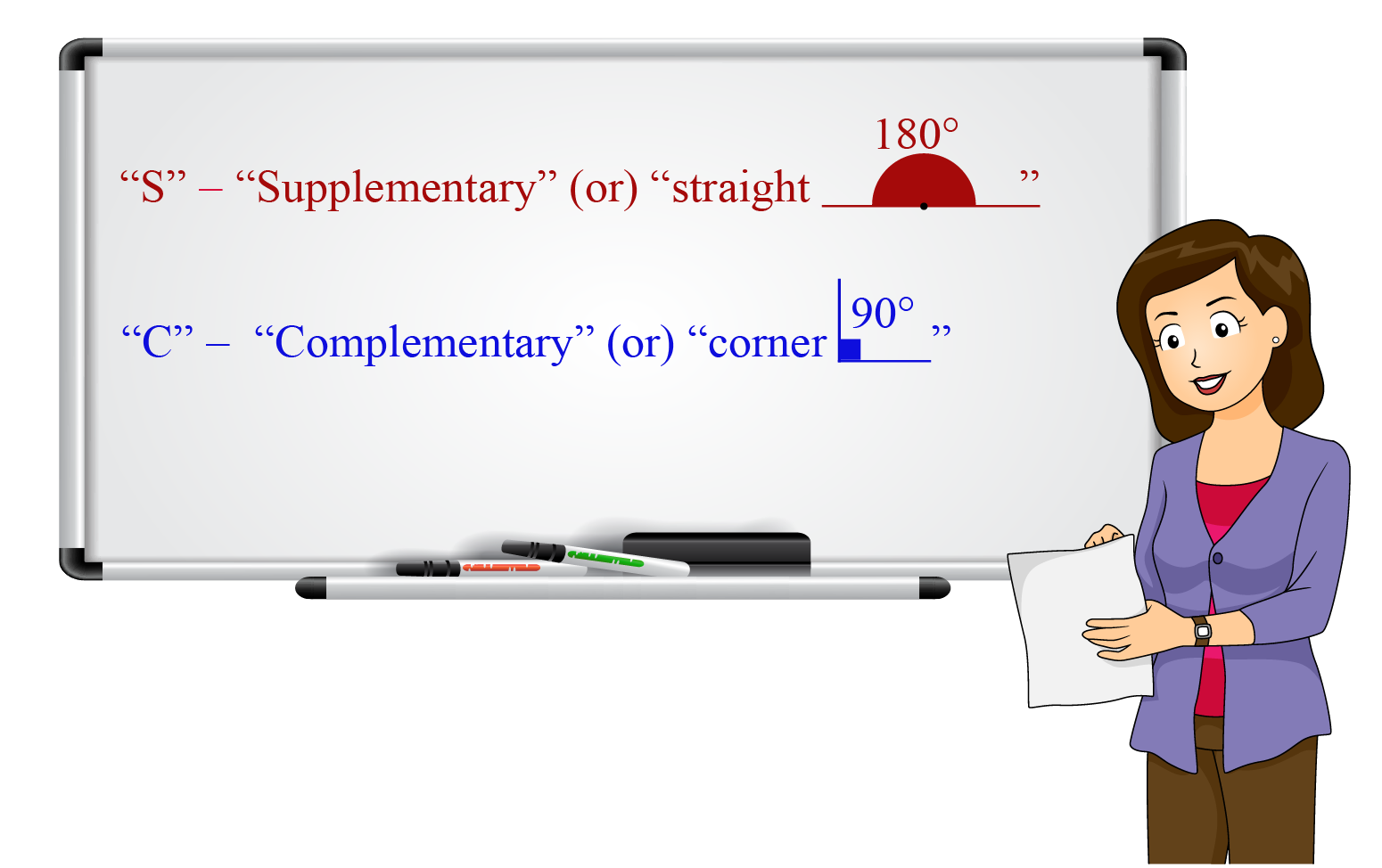 tip or trick to remember supplementary and complementary angles