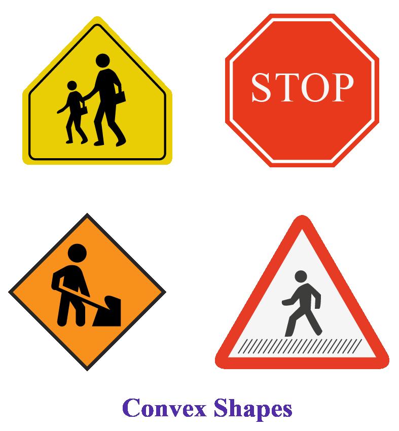 Convex shapes: real life examples