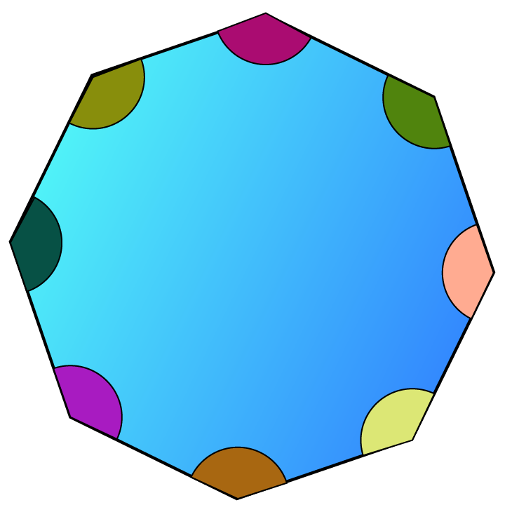 Angles of a convex polygon are less than 180 degrees.