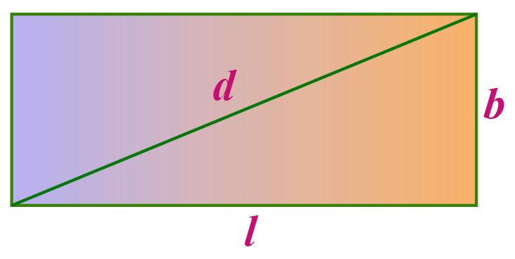 Length of the diagonal of a rectangle
