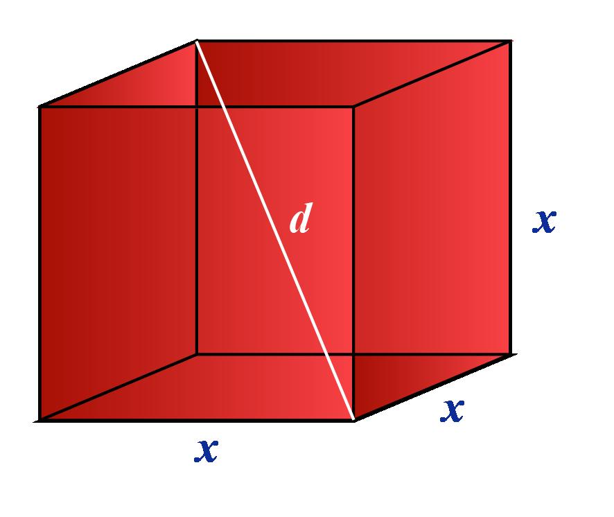 Length of the diagonal of a cube formula