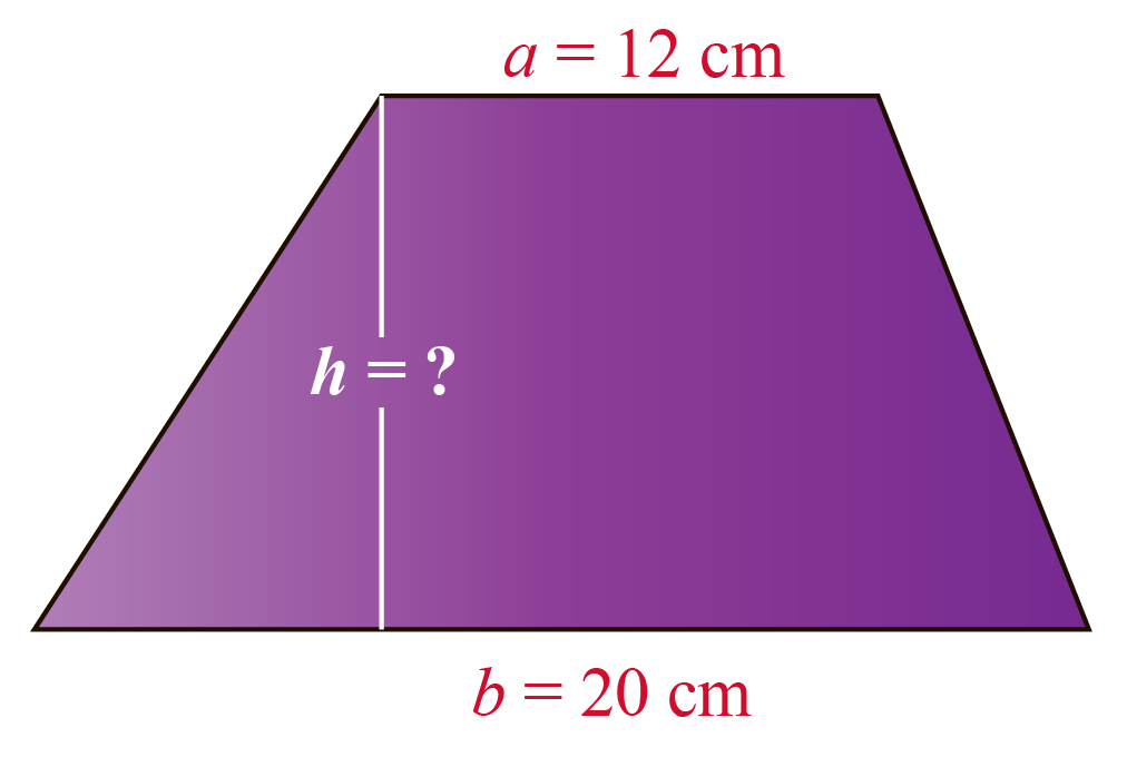 Area of a Trapezoid example