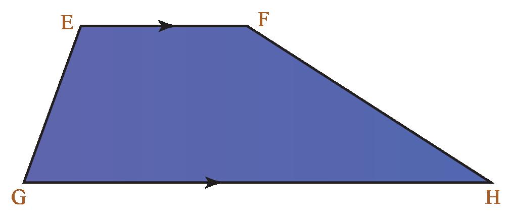 Properties of quadrilaterals: Properties of a trapezium EFHG