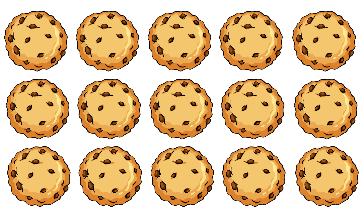 Remainder in division is explained using an example. 15 cookies need to be shared with 4 people.