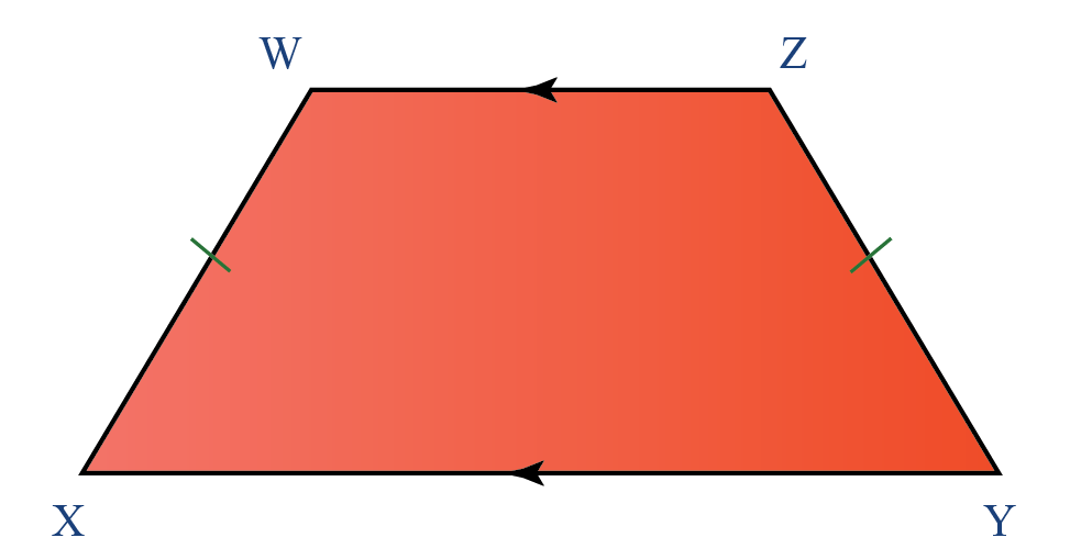 Properties of quadrilaterals: Properties of an isosceles trapezoid