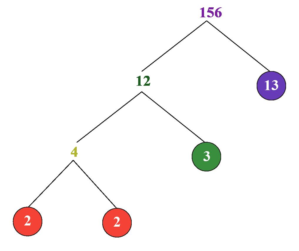 factorisation of 156