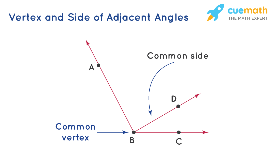 Vertex and Sides of Adjacent Angles
