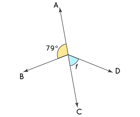 find the value of vertical angle