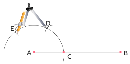 Step 4 of Constructing 90 Degrees Using a Compass