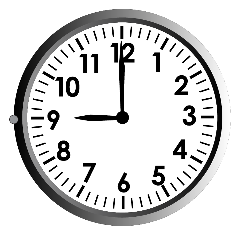 Time in a clock example
