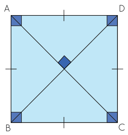 square with four sides and corners