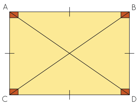 rectangle with four sides and corners