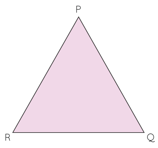 triangle with three sides and corners