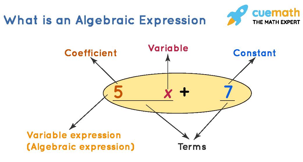 Example of a algebraic expression or algebraic expression
