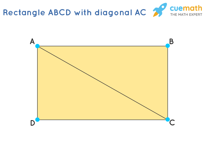 Rectangle ABCD with diagonal AC