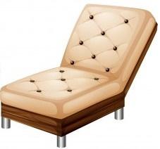 Irregular Hexagon Shape: Real life example of a sofa
