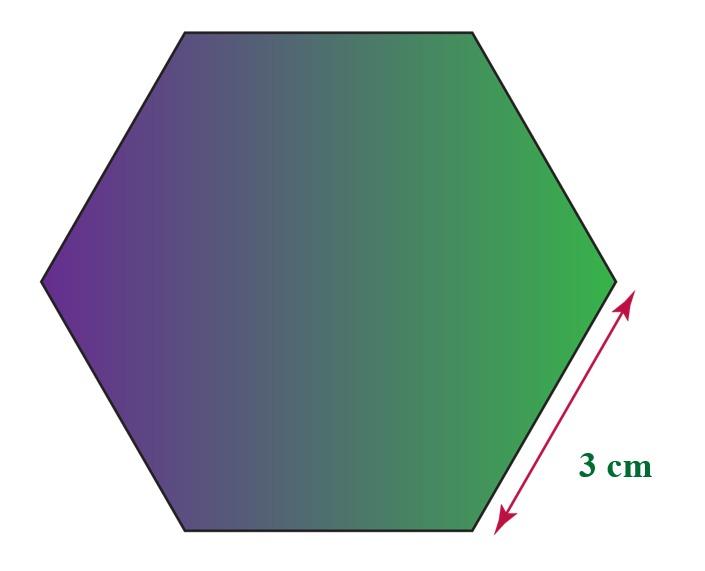 Regular Hexagon of side 3 cm