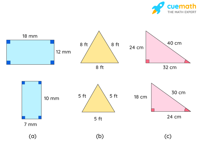 choose the correct pair of polygons that are similar