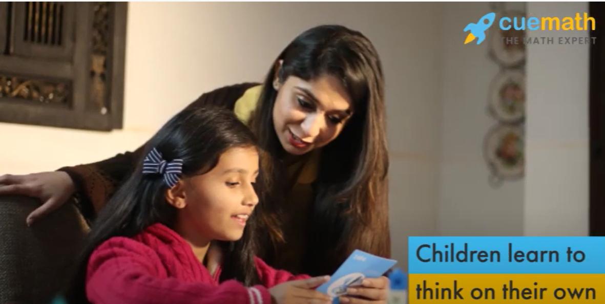 Cuemath teacher helping child with math